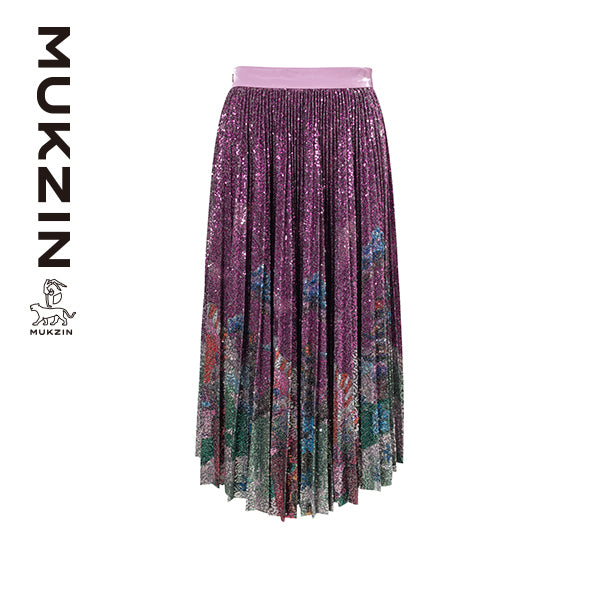 Mukzin Designer Brand Mini Spangle Skirt- SPACE IN THE GOURD