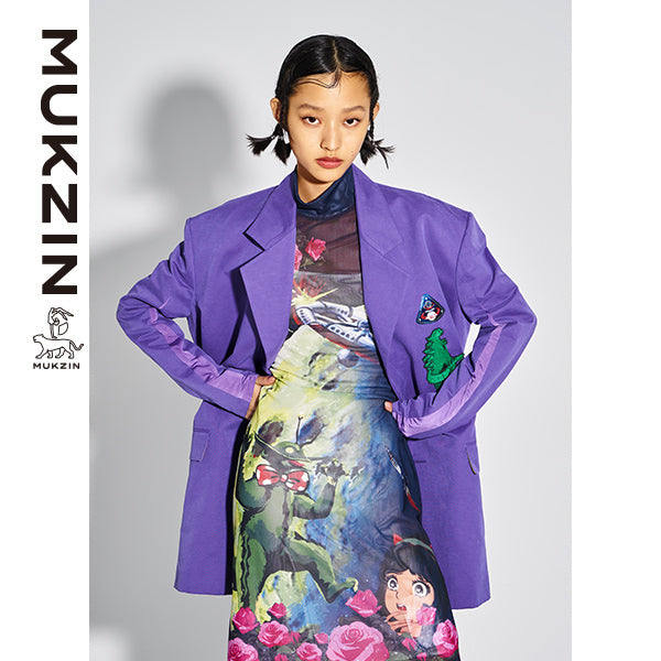 Mukzin Designer Brand Casual Purple Suit Jacket - MONSTER SWEETHEART