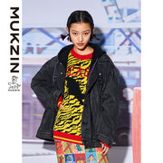 Mukzin Designer Brand Street Style Black Jacket- MONSTER SWEETHEART