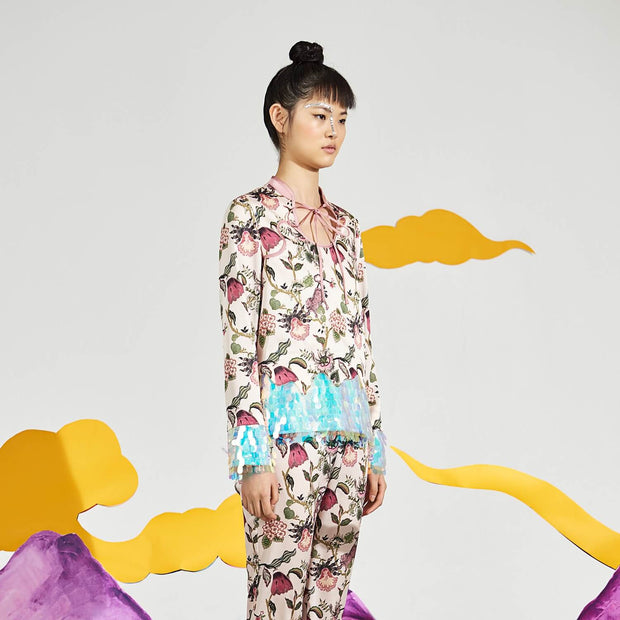 Mukzin Printing Pattern Leisure Women Color Suit - Chaos Of Mountains And Seas