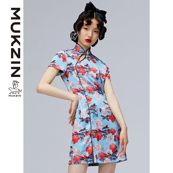 Mukzin Designer Brand Floral Print QI PAO-ADVENTURE IN SPACE