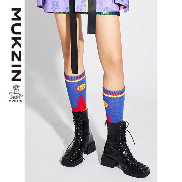 Mukzin Designer Brand Ankle Socks- Kowloon Walled City