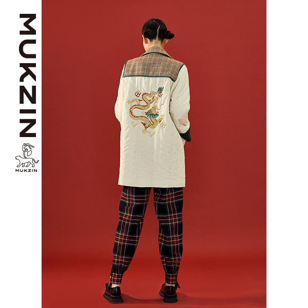 Mukzin Designer Brand Original Splicing Embroidery Coat- SPACE IN THE GOURD