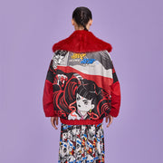 Mukzin Designer Brand Cartoon Pattern Women Cotton Jacket - Ne Zha