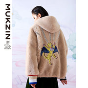 Mukzin Designer Brand Faux Coat - SPACE IN THE GOURD
