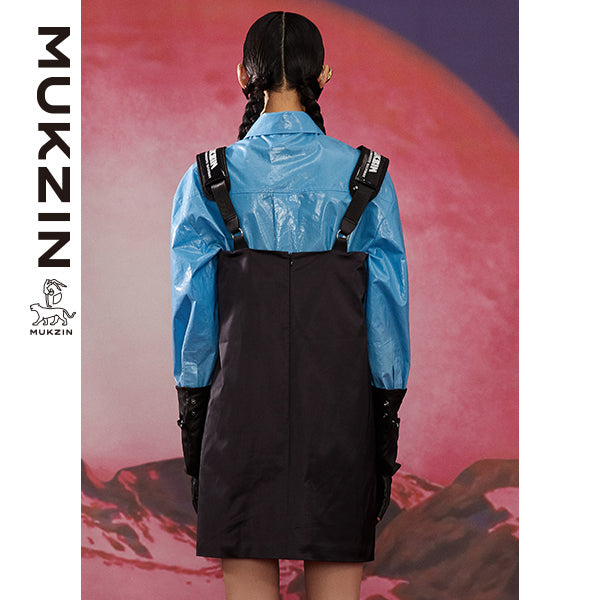 Mukzin Designer Brand Black Dress -ADVENTURE IN SPACE