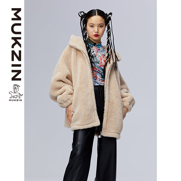 Mukzin Designer Brand Chic Style Beige Jacket -ADVENTURE IN SPACE
