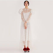 Mukzin Designer Brand Runway Show Edition Women White Dress - The Theater of Mao'er