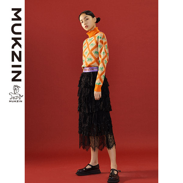 Mukzin Designer Brand Stripe Orange Sweater - SPACE IN THE GOURD