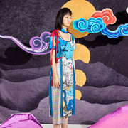 Mukzin Original Printing Women Color Dress - Chaos of Mountains and Seas