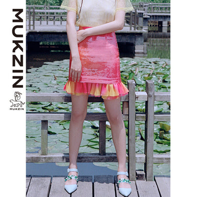 Mukzin Designer Brand Pink Half Skirt - SPACE IN THE GOURD