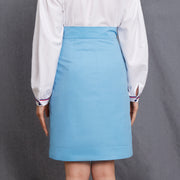Mukzin Hip Split Women Blue Half Skirt - Chaos Of Mountains And Seas