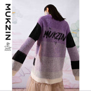 Mukzin Designer Brand Purple Loose Sweater - SPACE IN THE GOURD