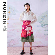 Mukzin Designer Brand Lace Chiffon Shirt - SPACE IN THE GOURD