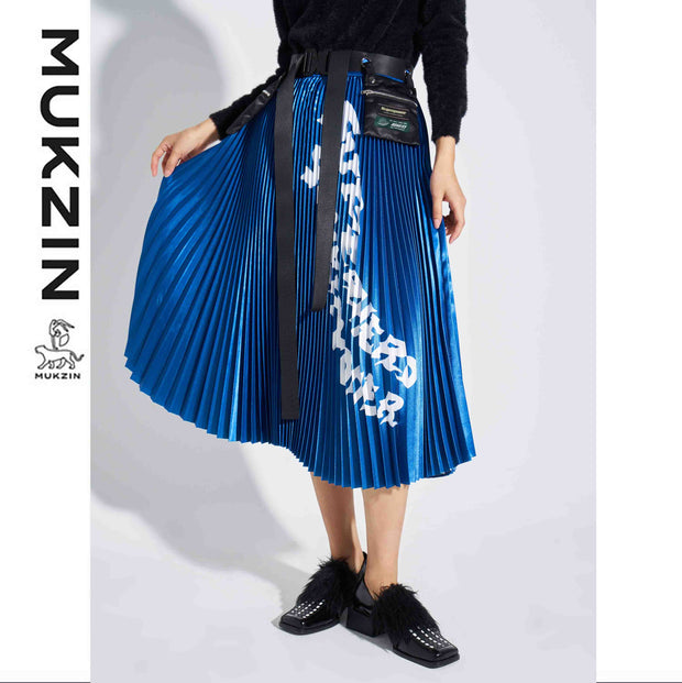Mukzin Designer Brand Blue Half Skirt- SUPER POWER