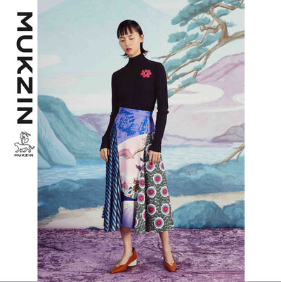 Mukzin Designer Brand Striped Print Skirt - SPACE IN THE GOURD