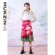 Mukzin Designer Brand Floral Printed Skirt - SPACE IN THE GOURD