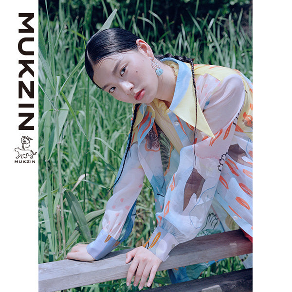 Mukzin Designer Brand Colorful Graffiti Grinting Long Shirt - SPACE IN THE GOURD