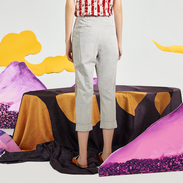 Mukzin Slim Casual Women Ninth Pants - Chaos of Mountains and Seas