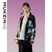 Mukzin Designer Brand Embroidery Decoration Black Jacket - TALISMAN