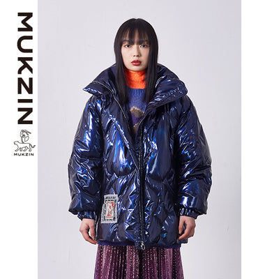 Mukzin Designer Brand Blue Down Jacket - SPACE IN THE GOURD