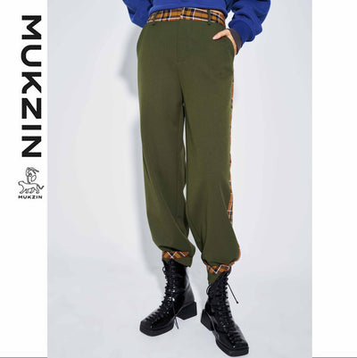 Mukzin Designer Brand Contrast Color Casual Pants- SUPER POWER