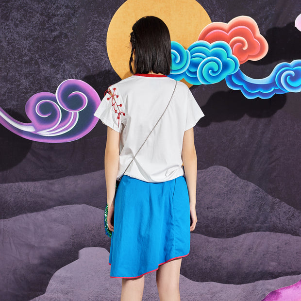 Mukzin Slim Short Paragraph Half Skirt - Chaos Of Mountains And Seas