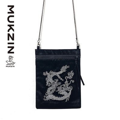 Mukzin Designer Brand Street Fashion  Casual Slung Black Jelly Package- Kowloon Walled City