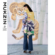 Mukzin Designer Brand Loose Stitching Long Shirt - SPACE IN THE GOURD