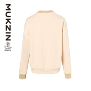 Mukzin Designer Brand Flying Tiger Printing Beige Hoodie - SPACE IN THE GOURD