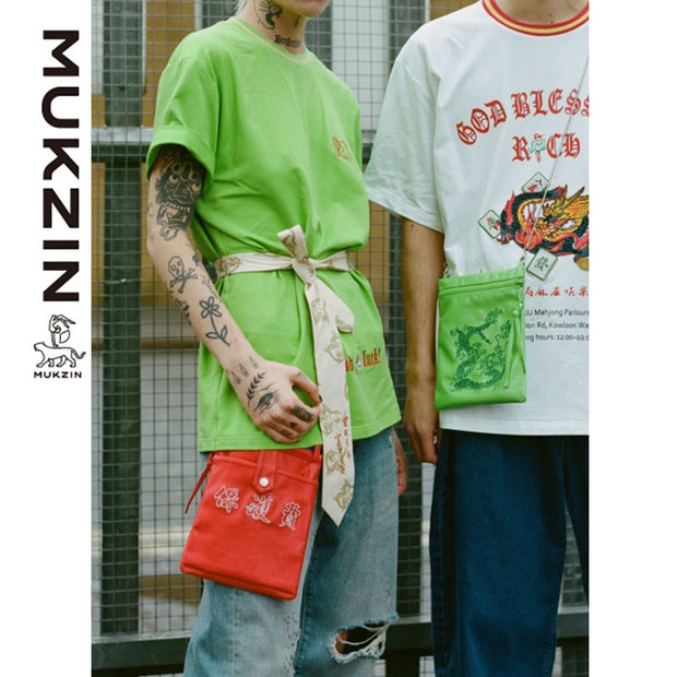 Mukzin Designer Brand Street Fashion  Casual Slung Red Jelly Package- Kowloon Walled City