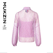 Mukzin Designer Brand Purple Lace Shirt- SPACE IN THE GOURD