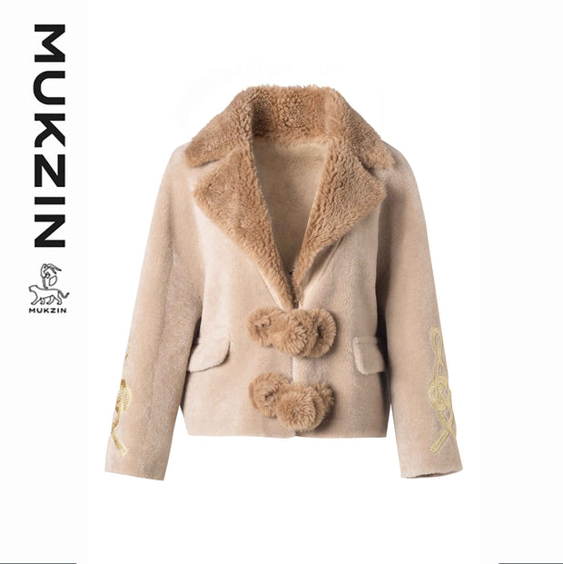 Mukzin Designer Brand Sherpa Coat- SPACE IN THE GOURD