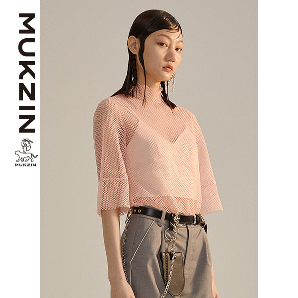 Mukzin Designer Pink T-Shirt (Two Pieces)- DRAGON SCALE PAVILION