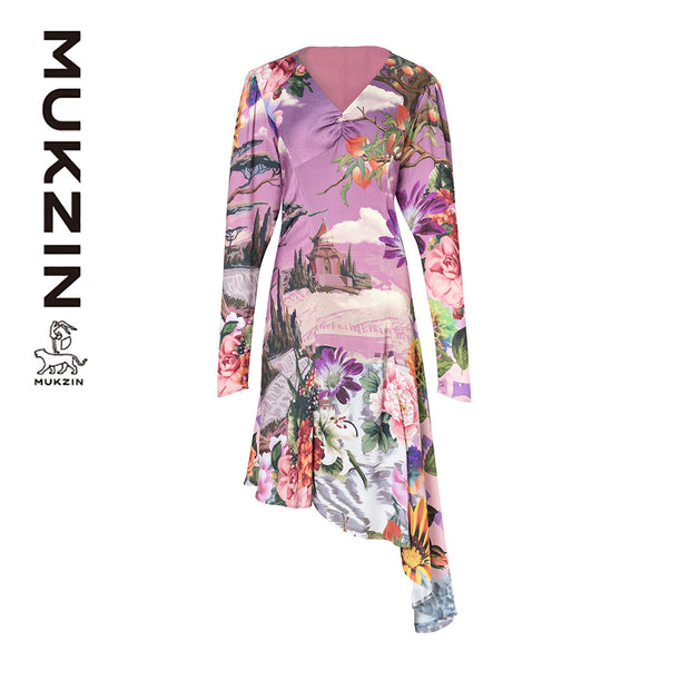 Mukzin Designer Brand Retro Print pattern Dress - SPACE IN THE GOURD