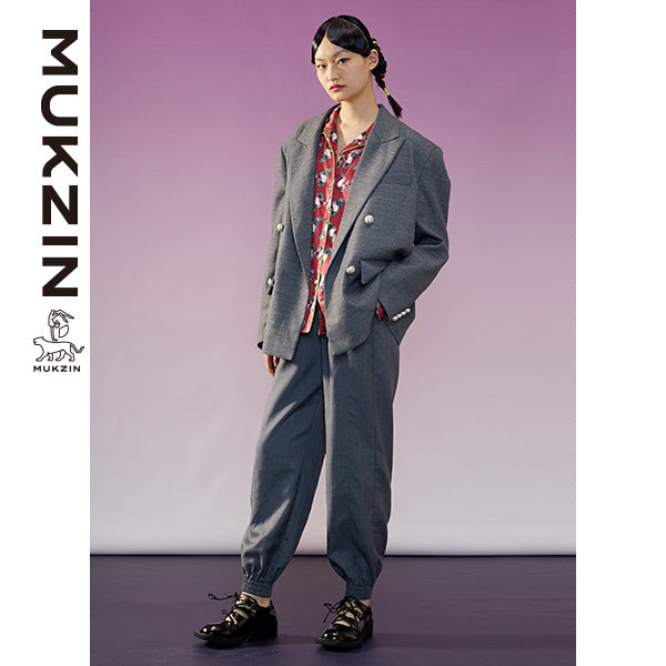 Mukzin Designer Brand Gray Casual Jacket-ADVENTURE IN SPACE