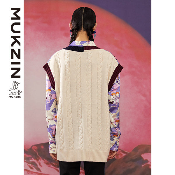 Mukzin Designer Brand Vest with Cartoon Print - ADVENTURE IN SPACE