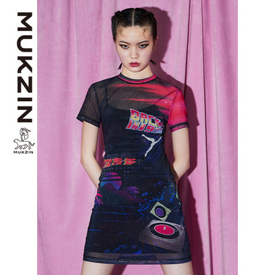 Mukzin Designer Brand Black Chic Style Dress- New Youth