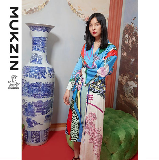 Mukzin Designer Brand Pajamas Wind Dress- DAAN