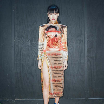 Mukzin Designer Brand Runway Show Hong Kong Style Pattern Women Dress - Daan