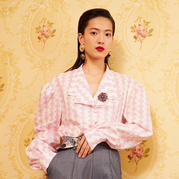 Mukzin Designer Brand Chinese Style Glowing Beauty Women Shirt - Daan