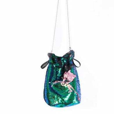 Mukzin Heavy Work Sequin Embroidery Women Hand Bag- Chaos of Mountains and Seas