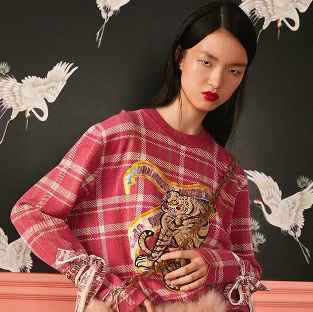 Mukzin Designer Brand Embroidery Tiger Women Color Sweatshirt - The Theater of Mao'er
