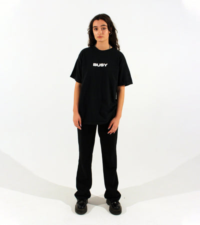 'BUSY' T-Shirt - Black