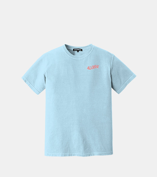 ALOHA T-Shirt - Pale Blue - SORRYIMBUSY