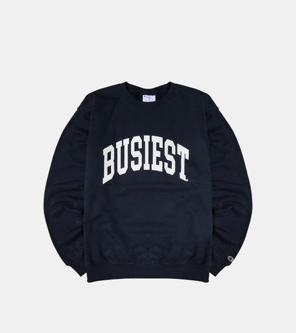 SORRYIMBUSY CHAMPION BUSIEST CREWNECK