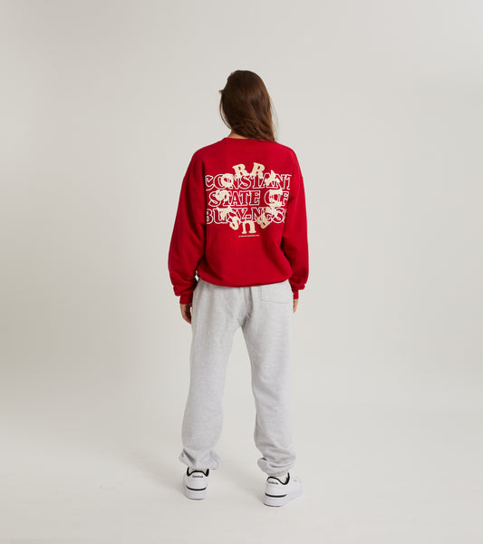 BUSY-NESS Crewneck - Red