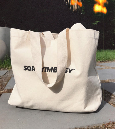 Heavyweight Logo Tote - SORRYIMBUSY
