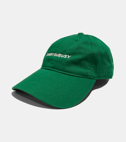 SORRYIMBUSY Classic Logo Cap Kelly Green Embroidered in Melbourne Australia