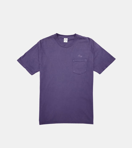 SORRYIMBUSY Grape Script Pocket T-Shirt